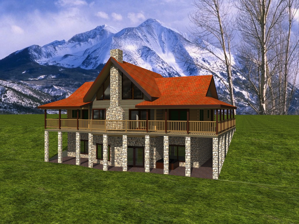 Greenwood log home custom timber log homes for 2000 sq ft log cabin cost