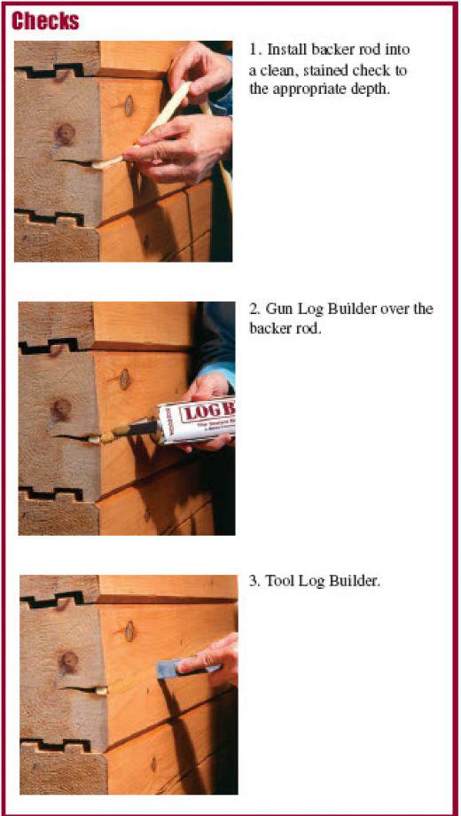Repairing Cracks in Logs