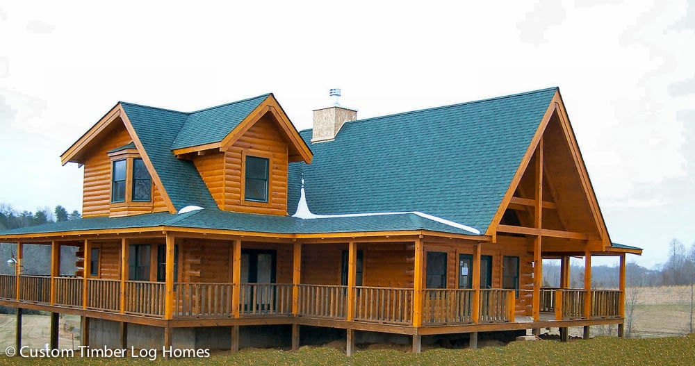 King log home gallery custom timber log homes for Butt and pass log homes