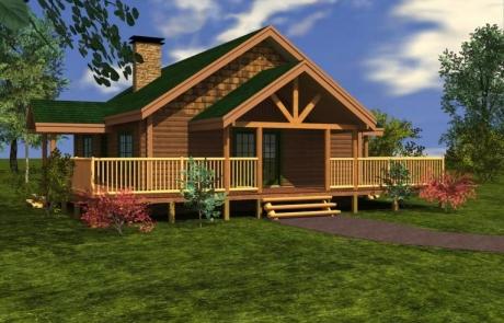 Crystal Lake Log Home