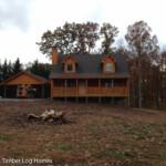 Log Home Front Porch Carport