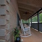 Log Home Deck Dovetail Corner