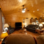 Log Home Great Room Cathedral Ceilings