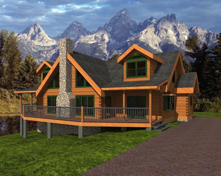 Timber Wolf Log Home
