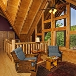 Loft Area Log Home