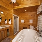 Steam Shower in Log Home