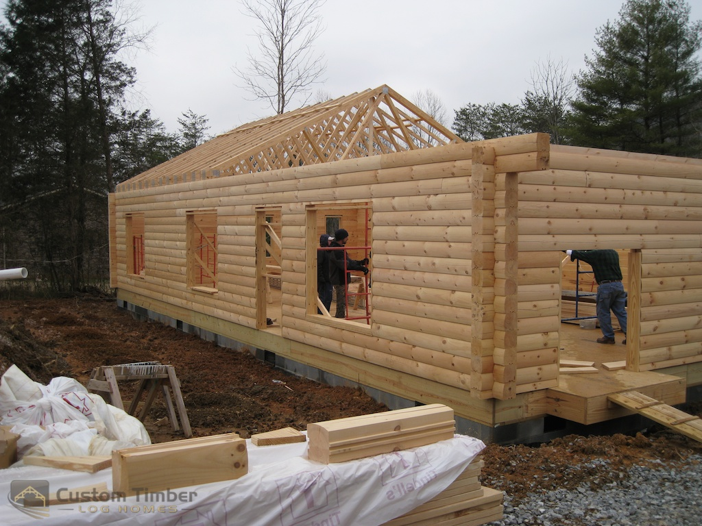 Dillon home log delivery and stack custom timber log homes for Log cabin kits knoxville tn
