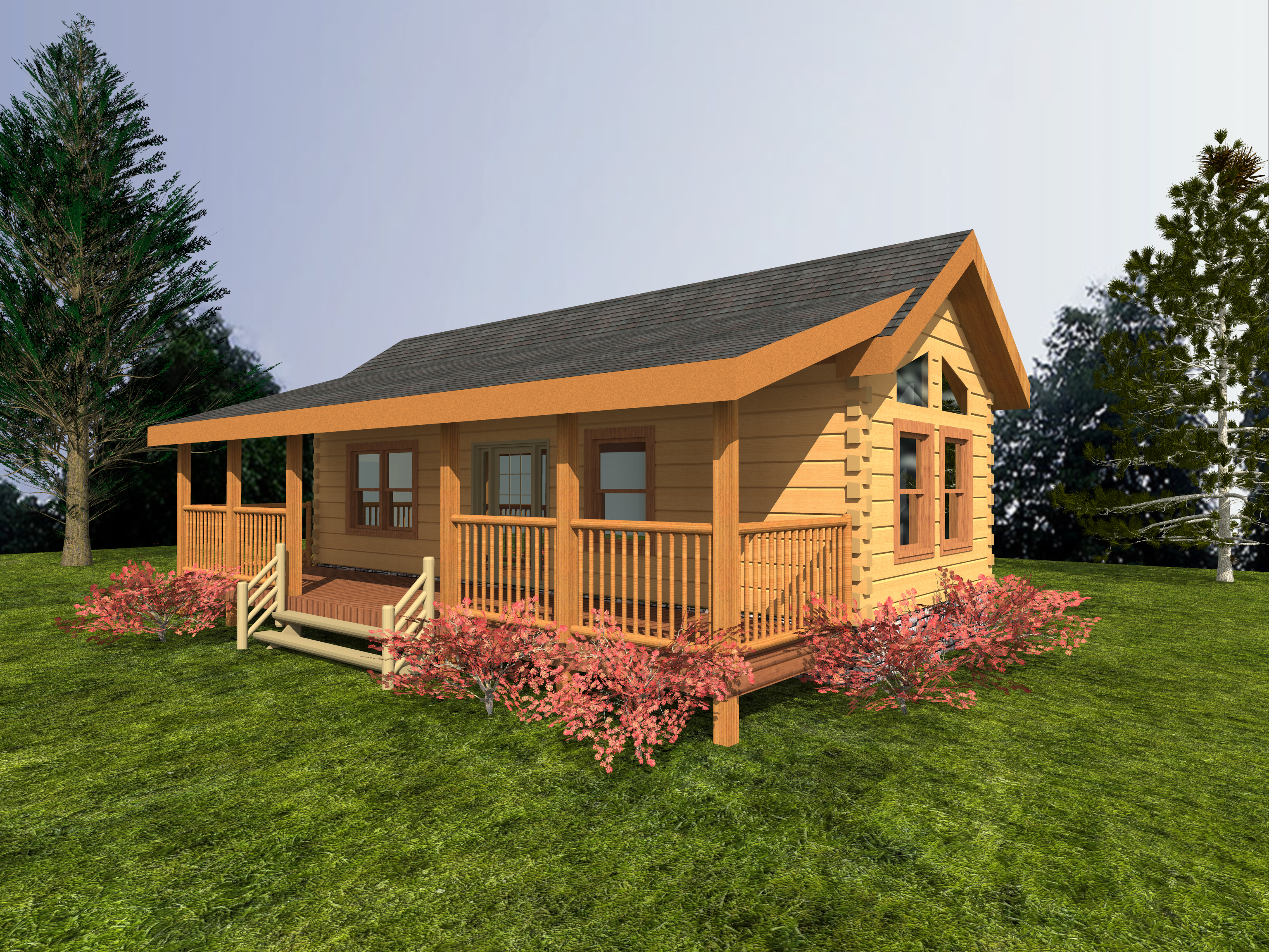 One Story Cabin Floor Plans Freedom Log Home Custom Timber Log Homes