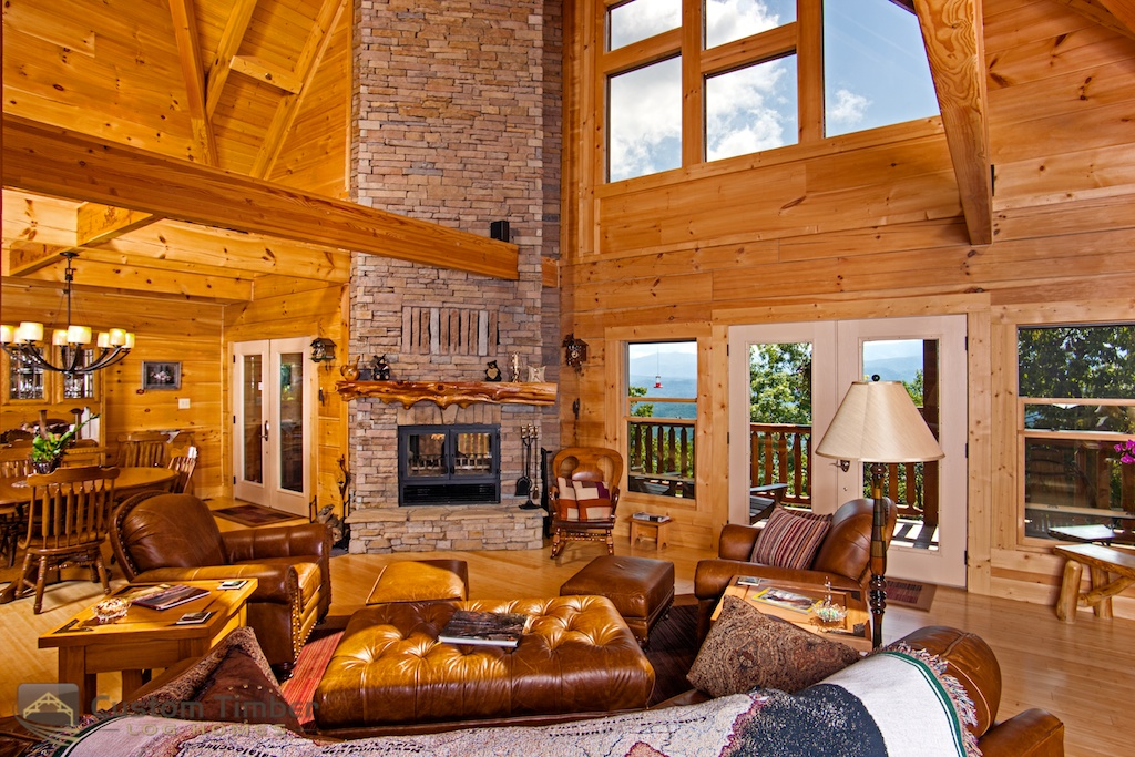 Log Home Interior Pictures - Custom Timber Log Homes