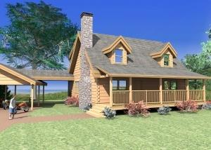 Kinzel Escape Log Home