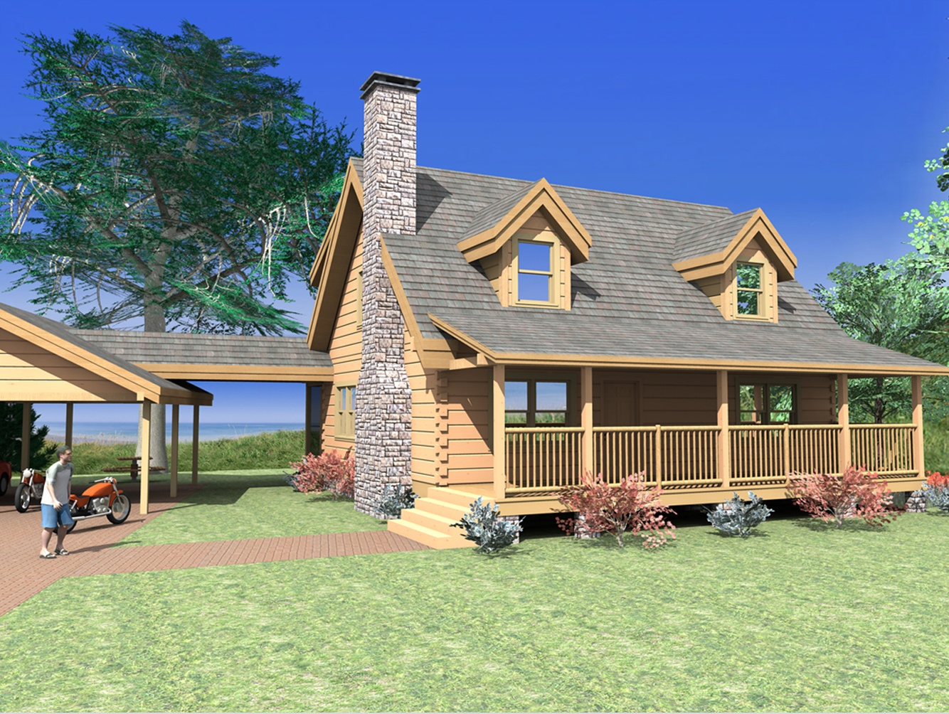 Log home plans from 1 500 to 2 000 sq ft custom timber for Unique log cabin designs