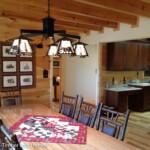 Log Home Dining Room Kitchen