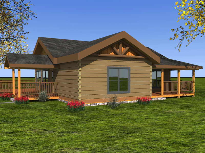 One Level Custom Timber Log Homes