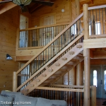 Watts Bar Log Home Staircase