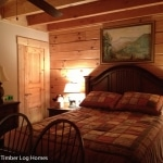 Customized Overlook Log Home Bedroom