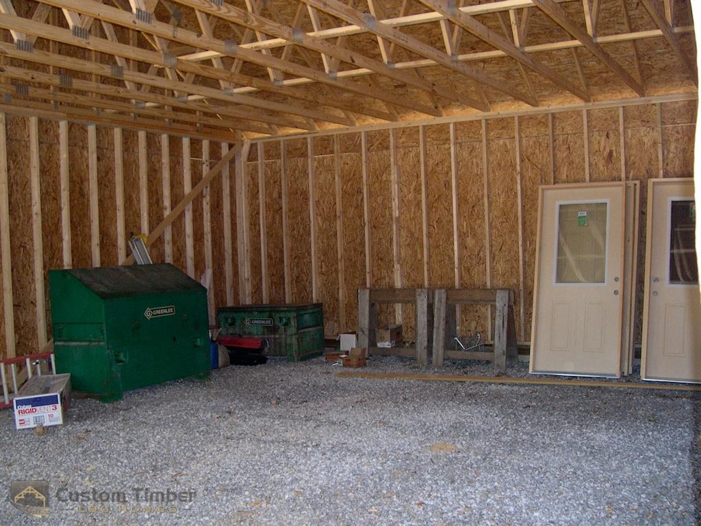 Interior of Garage Walls