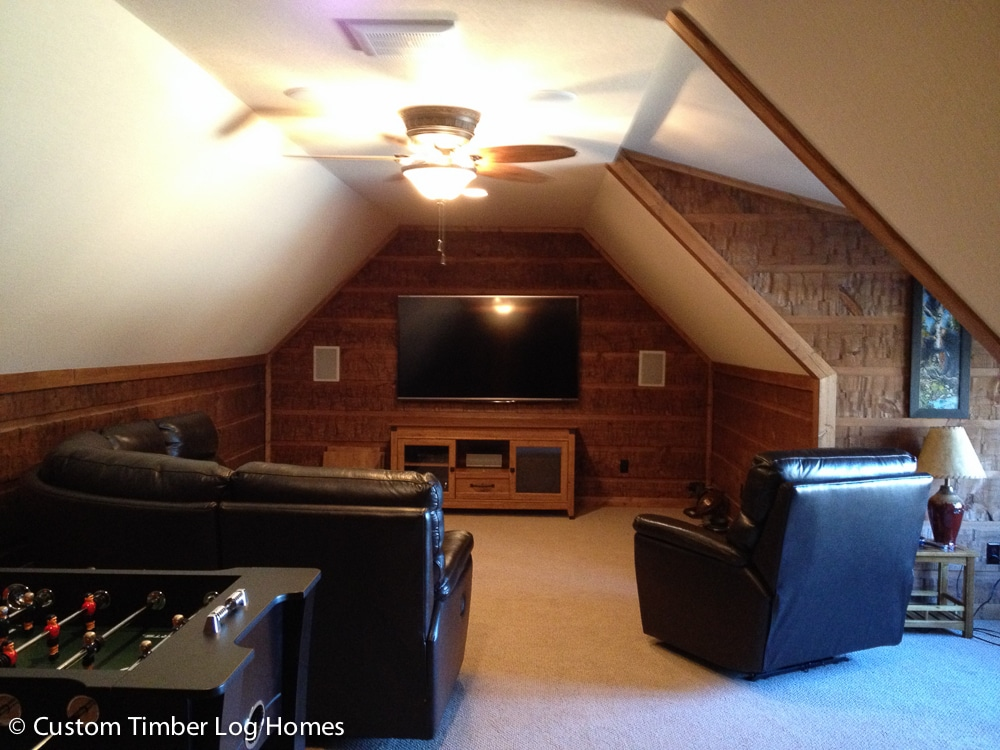 Man Cave Above Garage : Man cave above garage custom timber log homes