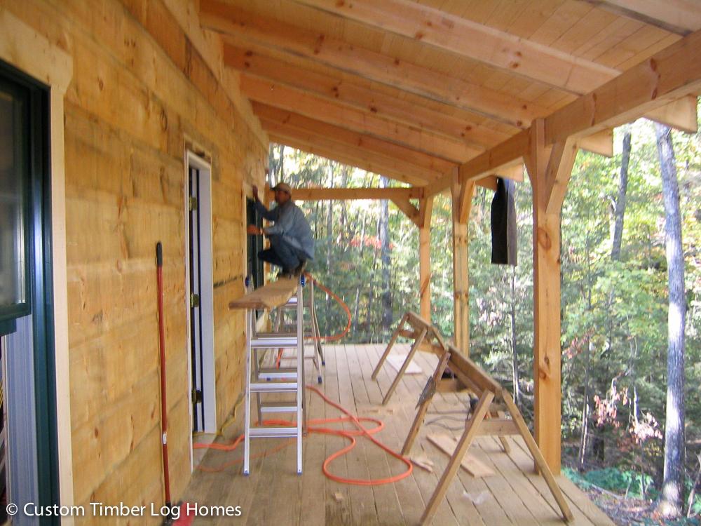 Rustic retreat log home gallery custom timber log homes for Rustic retreat