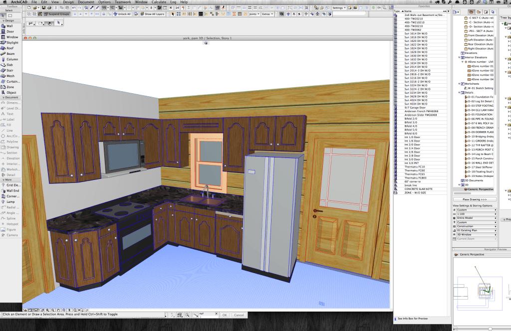 York Kitchen 3D
