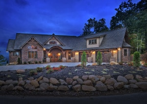 Craftsman Style Home Evening Shot