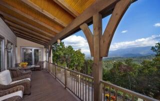 Bradshaw Rear Porch and Mountain View